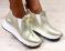 Слипоны высокие, gold, кожаные на белой подошве