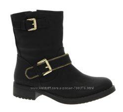 Ботинки черные утепленные, демисезон