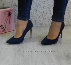 Туфли - лодочки синие