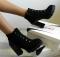 Ботинки на шнуровке с лаковой пяткой