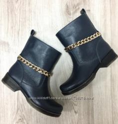 Ботинки зимние кожаные с цепочкой, 2 цвета