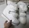 Ботинки зимние белые, кролик