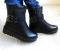 Ботинки зимние с декоративными цепями