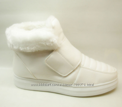 Ботинки зимние белые утепленные
