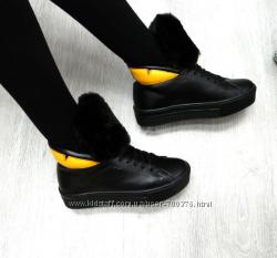 Ботинки натуральная кожа, с натуральным мехом