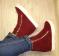 Ботинки - сникерсы утепленные, красные и черные