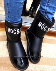 Угги Mocshino лаковый носок и пятка