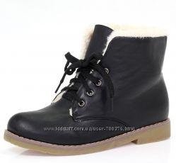 Ботинки утепленные на шнуровке