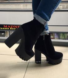 Ботинки замшевые зима тракторы классика