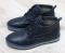 Ботинки зимние кожаные в стиле Hilfiger, синие