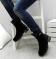 Ботинки натуральные с металлическим декором на каблуке