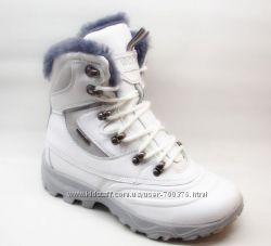 Ботинки зимние натуральная кожа, белые