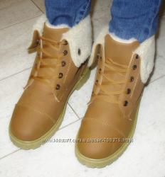 Ботинки зимние рыжие