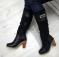 Сапоги натуральные, зимние, на среднем каблуке