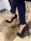 Туфли черные классика, комбинированные