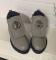 Ботинки зимние кожаные, серые