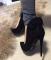 Туфли бант черные