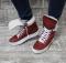 Ботинки спортивные зимние красные