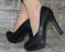 Туфли черные носок плотное кружево