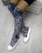 Ботфорты велюровые, белый носок и подошва