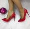 Туфли лодочки лаковые, красного цвета
