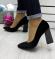 Туфли бархатные черные на толстом каблуке