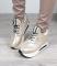 Кроссовки на шнуровке, золотистого цвета