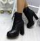 Ботинки кожаные, деми, на шнуровке