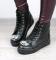 Ботинки деми черные, с камнями
