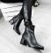 Ботинки кожаные на среднем каблуке