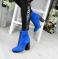 Ботинки замшевые с декоративной шнуровкой