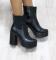 Ботинки натуральная кожа, деми, на каблуке с резинкой