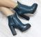 Ботинки кожаные, на каблуке