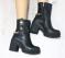 Ботинки кожаные с цепями