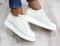 Туфли спортивные кожаные на шнурках, беж