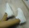 Кроссовки на утолщенной подошве белые