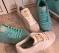 Кроссовки - кеды белые и голубые