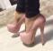 Туфли в стиле Louboutin пудра