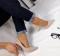 Туфли беж на золотом каблуке