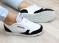 Кроссовки натуральные, черный  белый