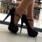 Туфли черные открытый носок