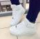 Кроссовки в стиле Форс белые высокие