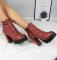 Ботинки бордовые с ремешками