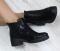 Ботинки черный сатин с резинкой
