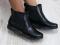 Ботинки кожаные черные с резинкой