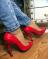 Туфли лодочки лаковые, красные