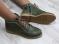 Ботинки кожаные, цвет хаки