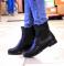 Ботинки кожаные с резинкой, черные, 40 р