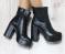 Ботинки кожаные с резинкой, на устойчивом каблуке