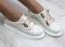 Туфли кожаные на липучках, кремовые